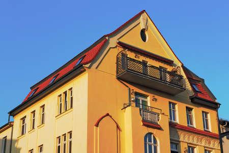 brandenburg home ownership: Restored house Editorial