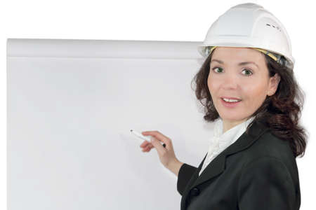 Construction manager on the whiteboard photo