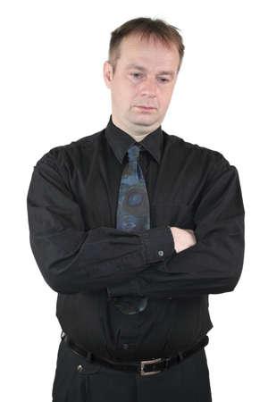 unsuccessfully: Businessman - melancholic type Stock Photo