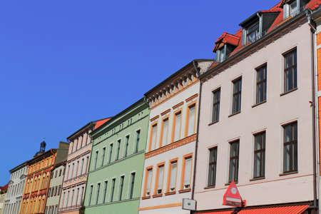 urban idyll: Renovated buildings line