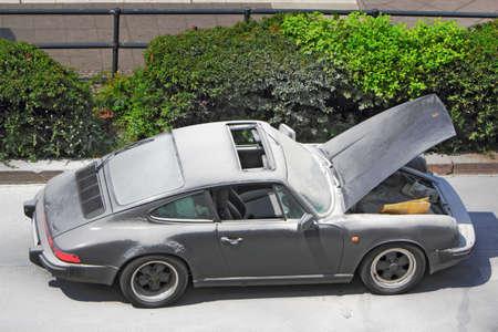 brand damage: Damaged Vehicle Editorial