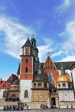 southern poland old building: Krakow cathedral