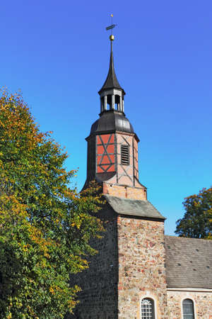 lower lusatia: Village church Luckau-Uckro