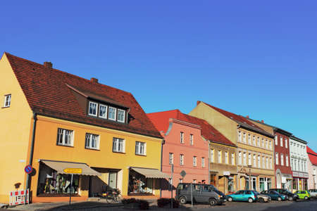 urban idyll: Old town of Dahme   Mark Editorial