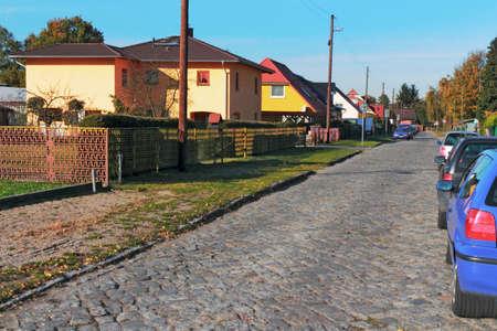 brandenburg home ownership: Falkensee Allotment Stock Photo
