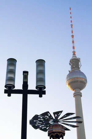 Television tower, lantern and pyramid photo