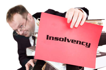 debt collection: Insolvency Stock Photo
