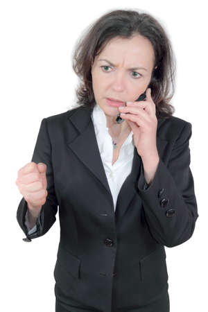tense phone call Stock Photo - 17261072
