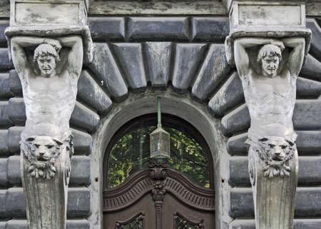 Door with statues photo