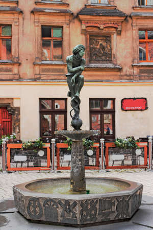 southern poland old building: Fountain in Krakow