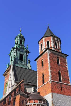 southern poland old building: Cathedral of Krakow Stock Photo