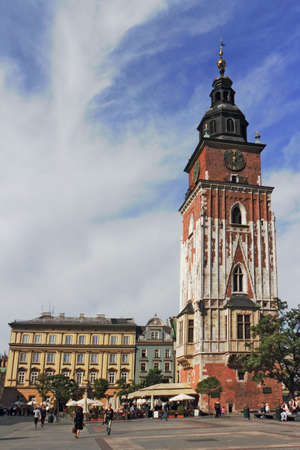 southern poland old building: Krakow with City Hall Tower