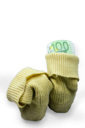 sparingly: Saving Sock Stock Photo