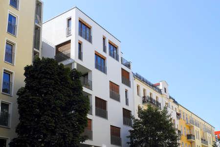 prenzlauerberg: renovated house line Stock Photo