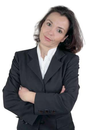 argumentative: Businesswoman amused Stock Photo