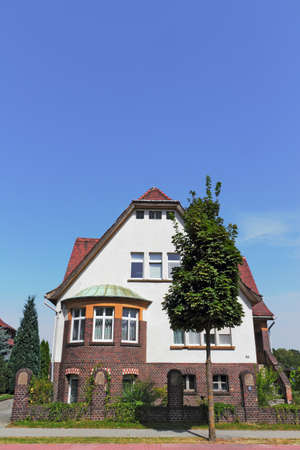 brandenburg home ownership: House with brick Editorial