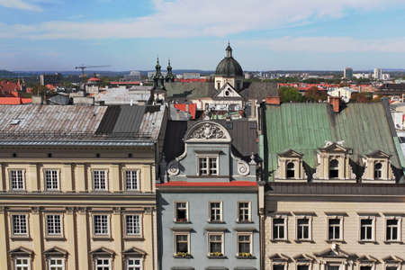 gable home renovation: Panorama of Krakow Editorial