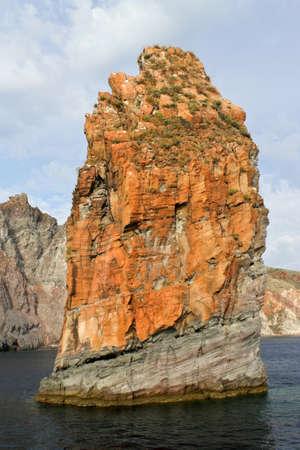 eolie: Rock of volcanic island