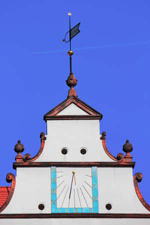 gable home renovation: Gable with clock