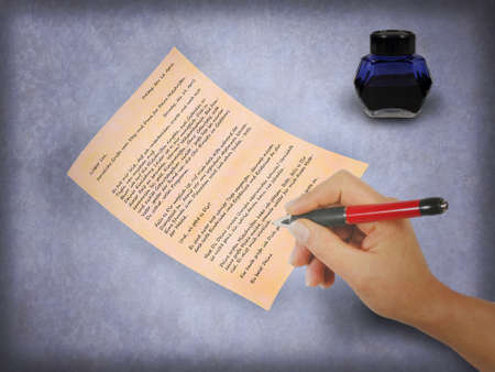 Writing a letter photo