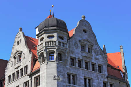 gable home renovation: Leipzig Town Hall Stock Photo