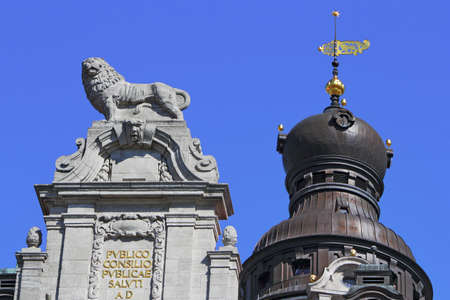 baudenkmal: Leipzig Lion and Town Hall Tower