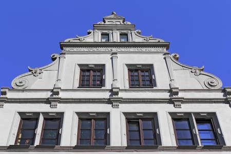stucco facade: Old House