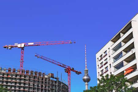 plattenbauten: Berlin - building site