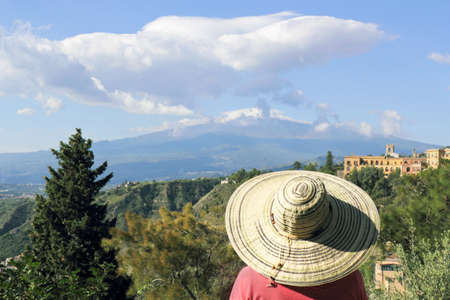 town idyll: Clouds over Mount Etna