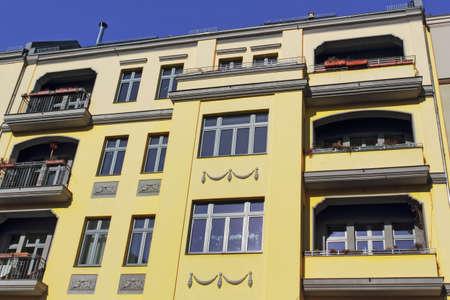 prenzlauerberg: Renovated Old Building Stock Photo