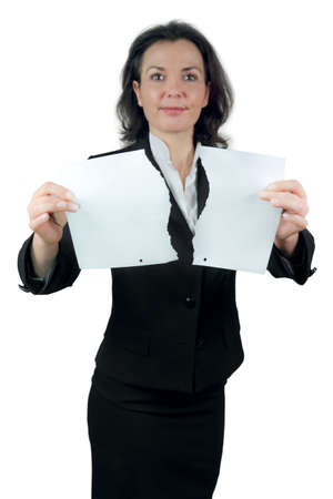 tear contract Stock Photo - 20761414