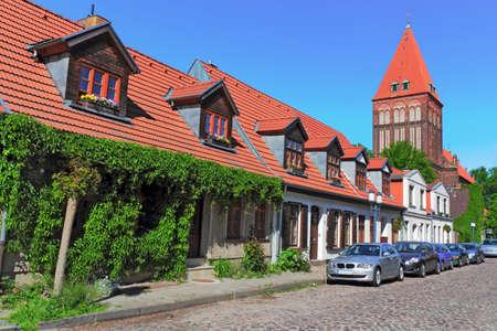 town idyll: Allotment and Jacobi church