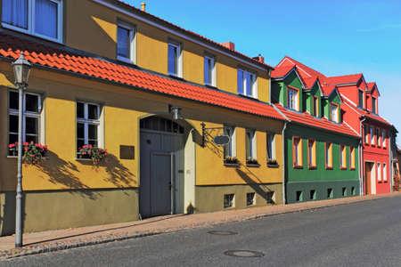 rent index: Renovated House Line Stock Photo