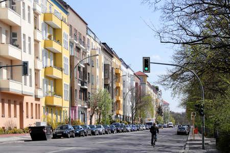 prenzlauerberg: Friedrichshain Town In Berlin Stock Photo