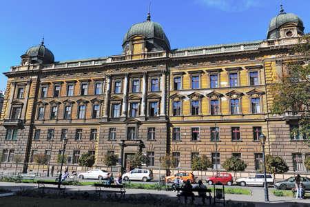 town idyll: Big building in Krakow