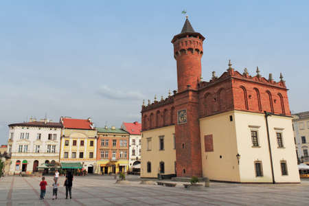 southern poland old building: Tarnow City Hall Square