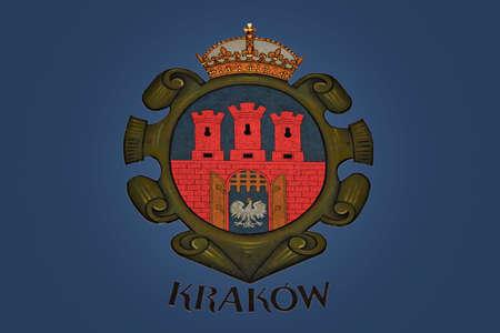 krakow: Arm of Coats Krakow Stock Photo