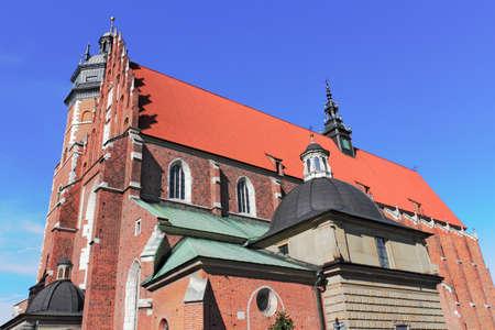 corpus: Krakow Corpus Christi Church Stock Photo