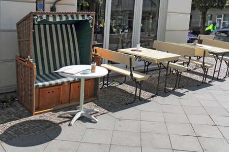 town idyll: Cafe with beach chair