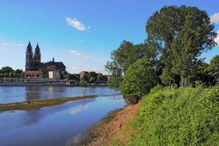 flood area: Magdeburg after the flood