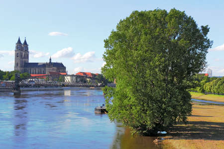 Cathedral and River Elbe photo