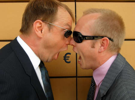 choleric: Euro Crisis Stock Photo