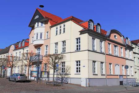 urban idyll: City Hall  Fuerstenberg Havel Stock Photo
