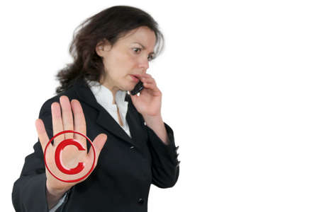 infringement: Copyright infringement Stock Photo