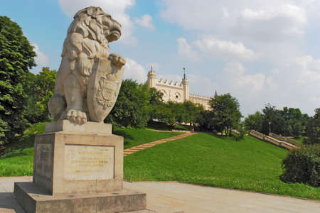 town idyll: Lion in front of Lublin Castle Editorial