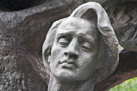 frederic chopin monument: Fryderyk Chopin Stock Photo