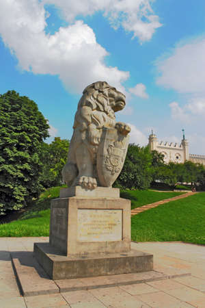 lublin: Lion in front of the Lublin Palace