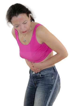 colonoscopy: bellyache Stock Photo