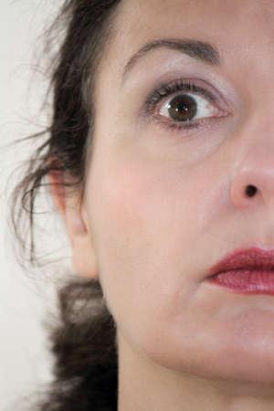 mesmerized: staring eyes Stock Photo
