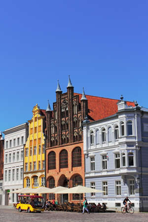 gable home renovation: old city of Stralsund Editorial